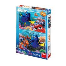 Dory mezi korály - puzzle 2x66 dílků