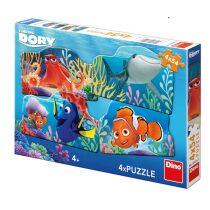 Dory a přátelé - puzzle 4x54 dílků