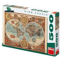 Puzzle Mapa světa z roku 1626