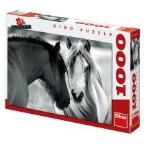 Puzzle Černobílí koně