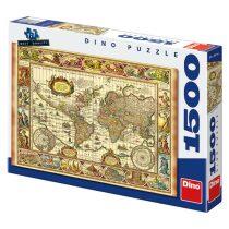 Puzzle Mapa a sedm divů světa