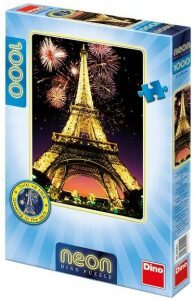 Puzzle Noční Eiffelovka neon