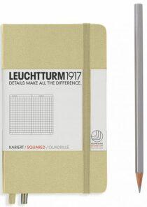 Zápisník Leuchtturm1917 Pocket Sand (A6) čtverečkovaný