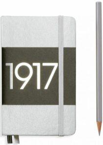 Zápisník Leuchtturm1917 Metallic Edition Pocket - Silver linkovaný