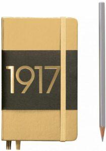 Zápisník Leuchtturm1917 Metallic Edition Pocket - Gold čistý