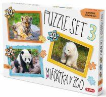 Puzzle SET 3 - Mláďátka v ZOO