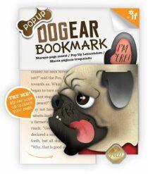 Záložka psí ucho - Doug (mops)