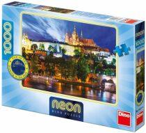 Puzzle Noční Letní noc v Praze neon - 1000 dílků