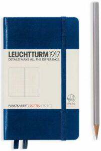Zápisník Leuchtturm1917 Navy Pocket tečkovaný