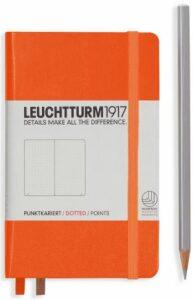 Zápisník Leuchtturm1917 Orange Pocket tečkovaný