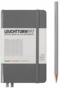 Zápisník Leuchtturm1917 Anthracite Pocket čtverečkovaný