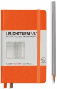 Zápisník Leuchtturm1917 Orange Pocket čtverečkovaný