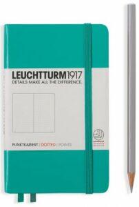 Zápisník Leuchtturm1917 Emerald Pocket tečkovaný