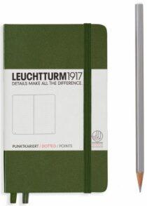 Zápisník Leuchtturm1917 Pocket Army tečkovaný