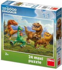 Maxi puzzle Hodný dinosaurus: V horách - 24 dílků