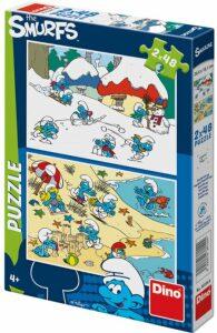 Puzzle Hraví Šmoulové - 2x48 dílků