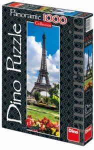 Panoramatické puzzle Eiffelova věž na jaře - 1000 dílků