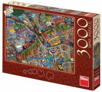 Puzzle Bláznivá jízda - 3000 dílků