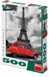 Puzzle Citroën u Eiffelovky - 500 dílků