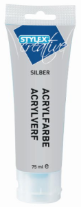 Akrylová barva - stříbrná
