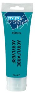 Akrylová barva tyrkysová 75ml