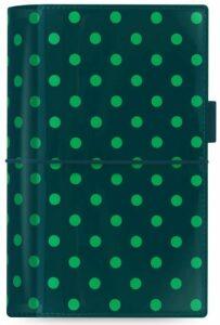 Diář Filofax A6 - Domino 2021, tmavě zelený