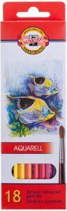 Souprava akvarelových pastelek 18 kusů