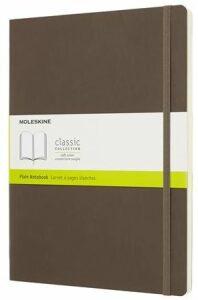 Moleskine Zápisník hnědý XL, čistý, měkký