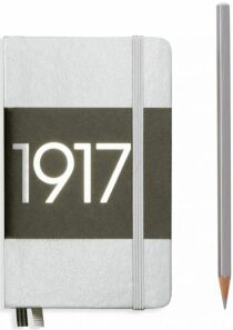 Zápisník Leuchtturm1917 Metallic Edition Pocket - Silver tečkovaný