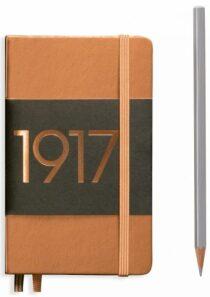 Zápisník Leuchtturm1917 Metallic Edition Pocket - Copper tečkovaný