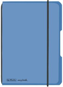 Sešit flex A6 čtverečkovaný - Modrý