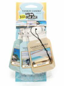 Papírové visačky do auta Yankee Candle - Beach Vacation (3ks)