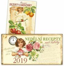Stolní kalendář 2019 - Nedělní recepty + Ovocné dezerty a moučníky