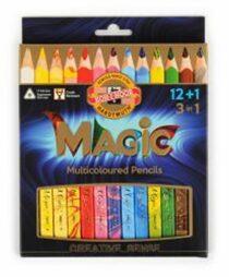 Koh-i-noor pastelky MAGIC multibarevné 12+1ks v sadě
