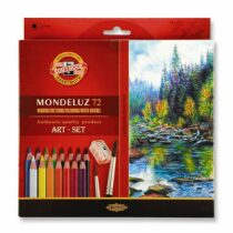 Koh-i-noor pastelky MONDELUZ akvarelové kreslířská sada 72 ks