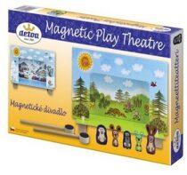 Magnetické divadlo Krtek s dřevěnými figurkami v krabici