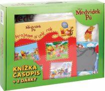 Medvídek Pú - kufřík (zelený) - dárkový box (komplet)