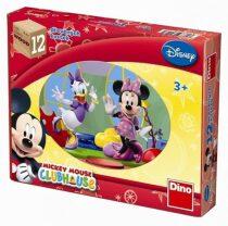 Mickeyho klubík - Dřevěné kostky 12 ks