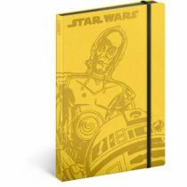 Notes - Star Wars/Droids, linkovaný, 13 x 21 cm