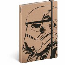 Notes - Star Wars Kraft/Clone, linkovaný, 13 x 21 cm