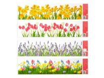 Okenní fólie 992 pruhy květiny 64x15 cm