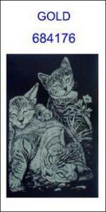 Škrabací obrázek A5 koťata GOLD