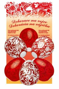 Smršťovací dekorace na vejce červené 10ks