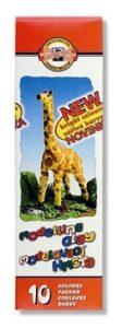 Modelína 200g 10 barev krabička Žirafa