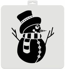 Vánoční šablona - Sněhulák