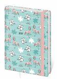 Diář 2021 LYRA Flamingo B6 denní s gumičkou L392