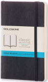Moleskine - zápisník měkký, tečkovaný, černý S