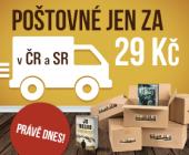 Poštovné po ČR a SR teď stojí jen 29 Kč!
