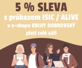 Sleva 5 % s průkazy ISIC / ALIVE