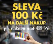 100 Kč pro členy Klubu | Stačí nakoupit nad 499 Kč